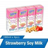 Vito Strawberry Soy Milk 180ML*4pcs