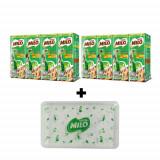 Nestle Milo UHT Milk 180ml(4*2cards = 8pcs + Gift Free ( Mask Box)